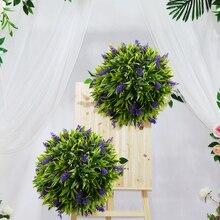 30 см Искусственный цветок лаванды Топиарий в форме шара подвесная корзина поддельные растения украшение для дома, кафе