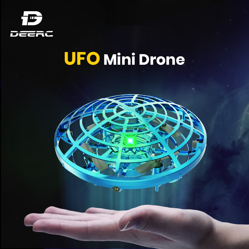 UFO Mini Drone Hand Operated Fly Anti Collision Quadcopter Upgraded 360 Drone