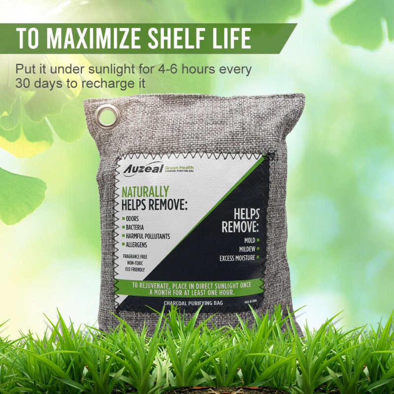 2/4 шт. мешки для очистки воздуха природа свежий древесный уголь для очистки воздуха из бамбука в форме сумочки очиститель запахов бамбуковы...