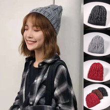 цены New Fashion Unisex Skullies Beanies Winter Hats For Women  Men Keep Warm  Outdoor Hats Knitted Wool Hemming Beanies Cap