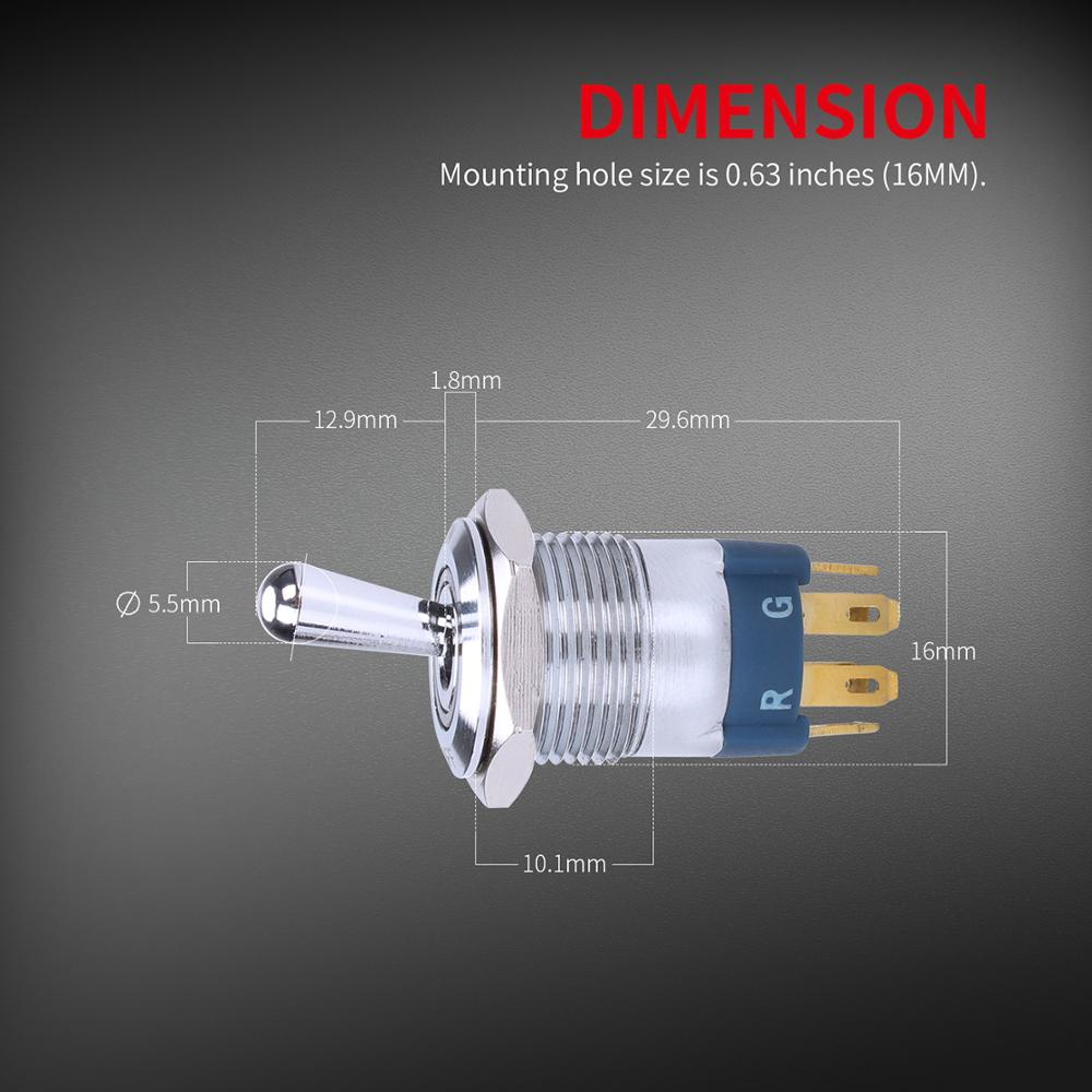 Details about  /On Off Led Toggle Switch 12v Rgb Waterproof Large Round Rocker Push Button Style