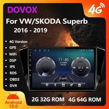 DOVOX Octa-Core Android Kopf Einheit Für VW Volkswagen Skoda Superb 3 2015-2019 GPS 2 Din Auto radio Multimedia Player 2din Keine Dvd
