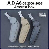 สำหรับ Audi A6 C5 2000-2006 พวงมาลัยรถ  อุปกรณ์ตกแต่งภายในรถยนต์ Auto Parts คอนโซลกลางคอนโซลกล่องแขน