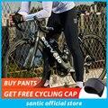 Santic Männer Radfahren Hosen Lange Hosen Mit Coolmax Padded pantalones MTB Shackproof Hosen Reiten Böden K9MD092H