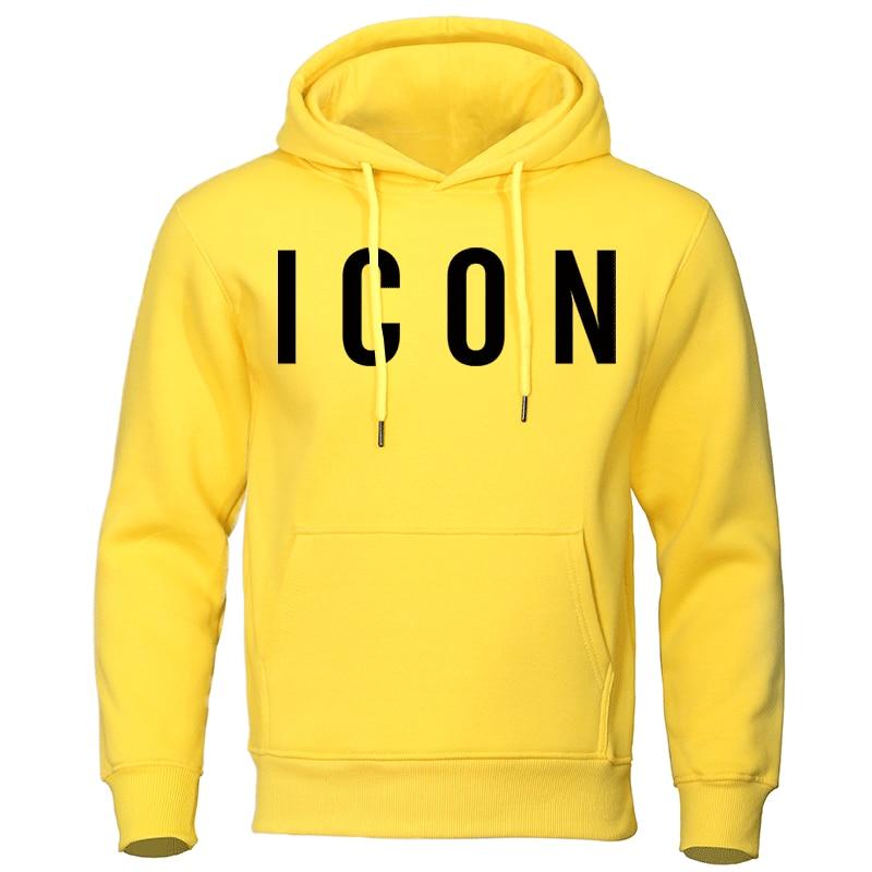Icon Print męskie bluzy z kapturem 2019 jesienno-zimowa bluza gorąca sprzedaż modna bluza z kapturem Casual bluza hip-hopowa jesień nowy dres męski