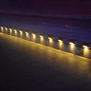 Image 4 - ABS solaire, 12 pièces, lampe à Led escaliers solaires, imperméable conforme à la norme IP65, éclairage dextérieur, éclairage blanc chaud, Durable, pour un jardin, un plancher ou une cour