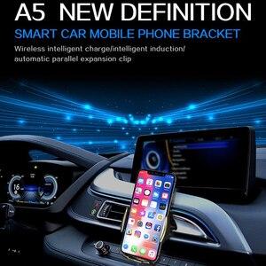 Image 2 - Araba kablosuz şarj cihazı 10W hızlı Qi kablosuz şarj iPhone 11 Pro XS XR çift indüksiyon araba telefon tutucu için samsung S9 Pius