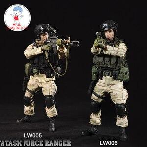 Image 1 - CrazyFigure LW005/LW006 1/12 US Delta Special Force mistrz sierżant Rangers zadanie 1993 mężczyzna żołnierz figurki