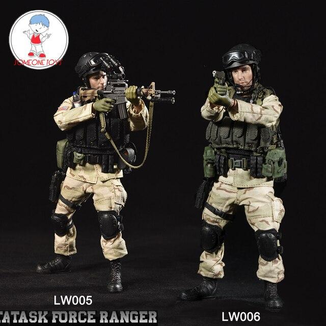 CrazyFigure LW005/LW006 1/12 US Delta Special Force mistrz sierżant Rangers zadanie 1993 mężczyzna żołnierz figurki