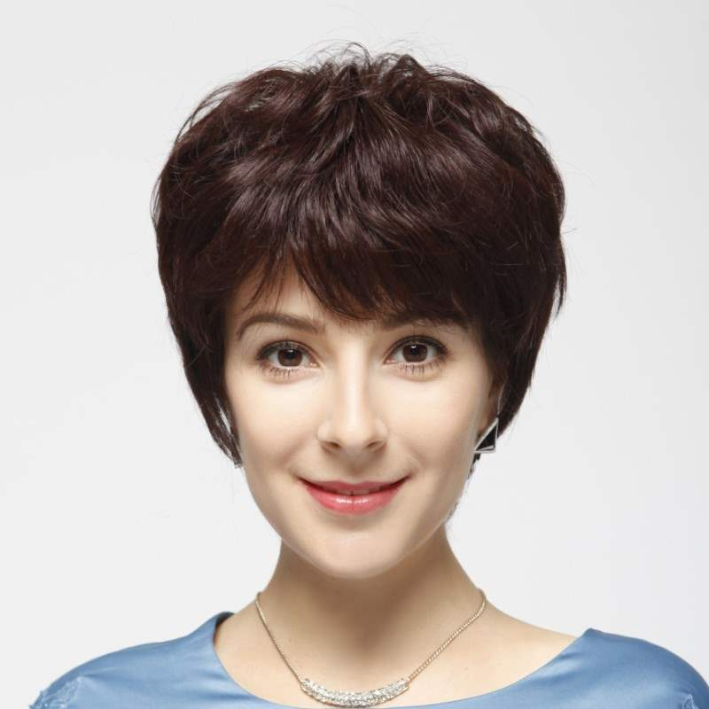 Eseewigs Kosher Jewish Short Human Hair Wigs For White Women Silk Base Full Lace Wigs