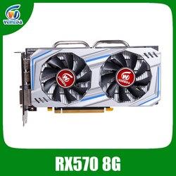 Видеокарта Veineda Radeon RX 570 8GB 256Bit GDDR5 1244/7000 MHz, игровая видеокарта для ПК, для игр nVIDIA Geforce rx 570 8gb