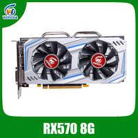 Veineda Scheda Video Radeon Rx 570 8 Gb 256Bit GDDR5 1244/7000 Mhz Scheda Grafica di Gioco per Pc per Nvidia geforce Giochi Rx 570 8 Gb