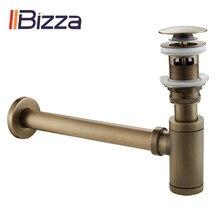 Bronze antigo banheiro vanity bacia sink tap kit de drenagem armadilha garrafa resíduos do vintage pop up dreno retro desodorização tubo transbordamento