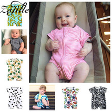 ZAFILLE Baby Romper Short Sleeve Printed Baby Boy Clothes Cotton Newborn Bodysuit Infant Baby Girl Clothes Kids Toddler Jumpsuit zafille long sleeve baby romper printed baby boy clothes cotton newborn infant baby girl clothing kids clothes baby jumpsuits