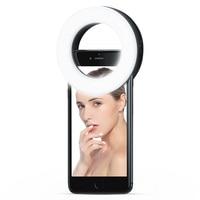 LED Selfie טבעת למלא אור USB Dimmable טבעת מנורת נטענת מיני מעגל וידאו הזרמת מנורת קליפ על עבור טלפון מחשב נייד מצלמה