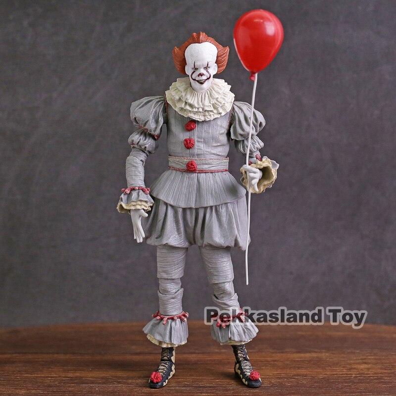 Neca stephen king pens it pennywise pvc action figure collectible modelo de brinquedo