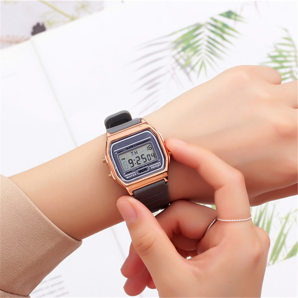 Women Watches Digital Relogio Waterproof Electronic Mens Sport -N03 Prova-De-gua title=