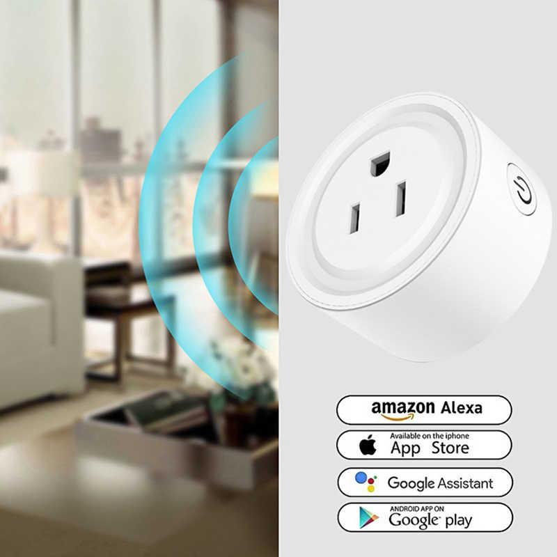 Nowa inteligentna wtyczka inteligentne gniazdo wifi aplikacja bezprzewodowa gniazdo ze zdalnym sterowaniem praca dla Magic Home Pro urządzenia automatyki domowej wtyczka amerykańska