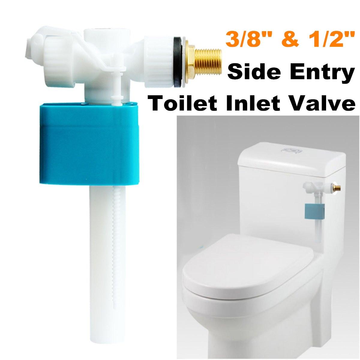 Side Entry Toilet Inlet Valve Cistern Fittings Adjustable Float Filling Valves G3/8