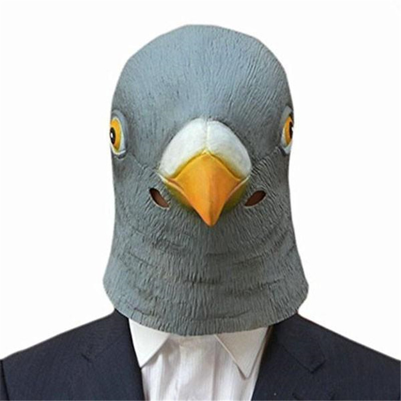 Pigeon Head Mask Latex Prop Animal Cosplay Costume For Party Halloween Party Costume