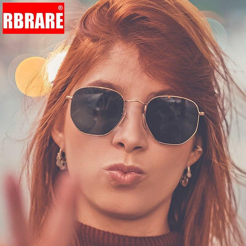 RBRARE métal carré petit cadre lunettes de Soleil femmes classique Vintage coloré mercure océan Film mode miroir Lunette Soleil Femme