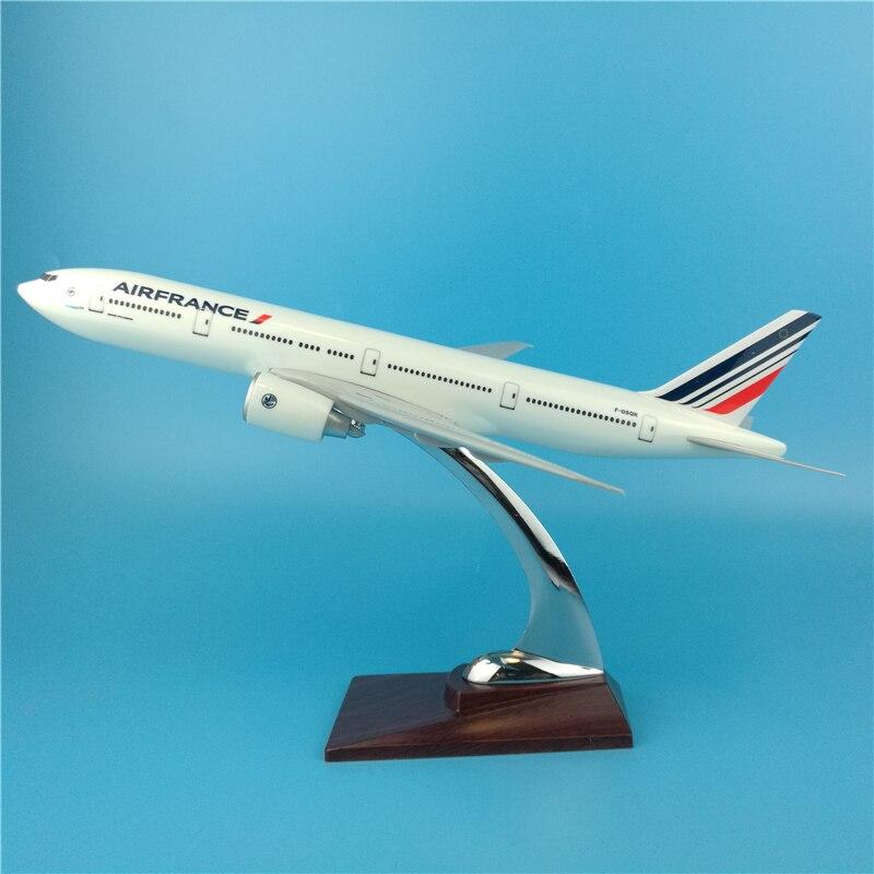 32 см Air France Boeing 777 моделирование Статическая модель самолета Смола B777 масштаб самолета летающие модели бизнес подарок Сувенирные игрушки