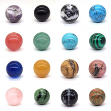 18mm Natural Stone Beads Healing Crystals Chakra Ball Round Sphere For Jewelry Making Bulk Gemstone Accessories Wholesale 1PC