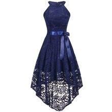Женское кружевное платье с лямкой на шее zogaa без рукавов для