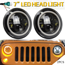 2pcs 7 Inch Led Driving Light 50W 30W  LED Car Headlight Kit H4 H13 Auto for Jeep Led Head Lamp Bulbs Dipped & High Beam round h4 high low dual beam 40w 7 inch led headlight for jeep wrangler jk and 4 inch led foglight driving lamp