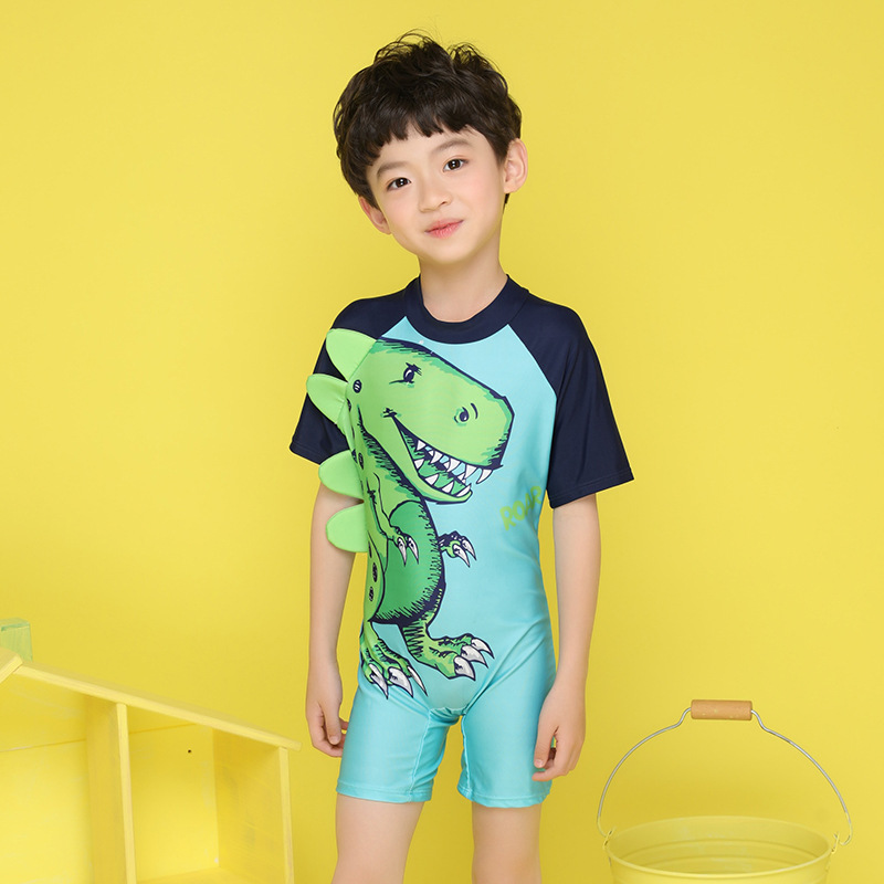 2018 New Style KID'S Swimwear One-piece KID'S Swimwear BOY'S Little Girl Big Boy Baby Boxer Swimming Suit
