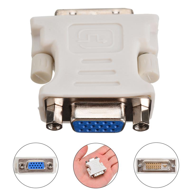 Mayitr 24+1 Pin DVI-D Male To 15 Pin VGA Female Adapter High Performance VGA Video Converter For PC Laptop
