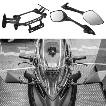 Motorcycle Rear View Mirror Modified for YAMAHA xmax 300 xmax 250 Mirror Bracket CNC Alloy Aluminum Moto Accessories