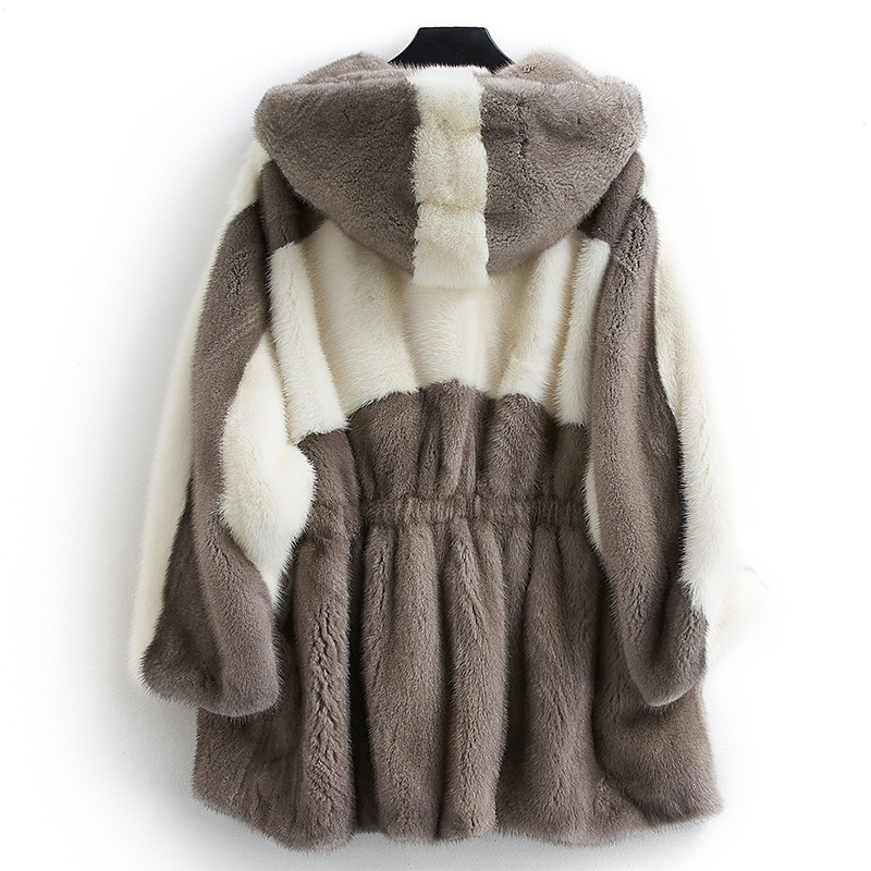 Mink Real Fur Coat 2020 Winter Jacket Women Luxury Natural Fur Jackets For Women Warm Overcoat Casaco Feminino MY3950 S