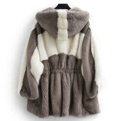 Mink Real Fur Coat 2020 Winter Jacket Women Luxury Natural Fur Jackets for Women Warm Overcoat Casaco Feminino MY3950 s