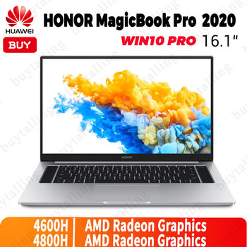 Original HUAWEI HONOR Magicbook Pro 2020 Laptop 16.1 inch 7nm Process AMD Ryzen r5-4600H/r7-4800H Windows 10 Pro English