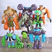 Ben Grey Importa Heatblast Humongousaur Rath 11 pçs/set Vilgax Mini Figuras de Ação Brinquedos de Presente para As Crianças