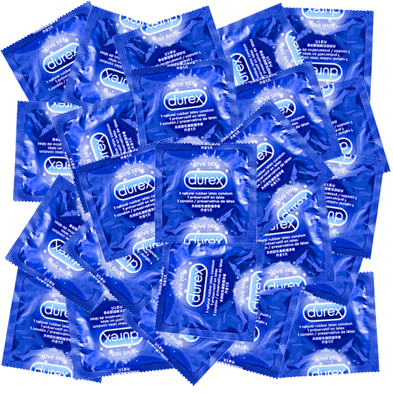 Durex Condom 40/<font><b>16</b></font> Pcs Natural Latex Smooth Lubricated Contraception Condoms for Men <font><b>Sex</b></font> <font><b>Toys</b></font> Products Wholesale image