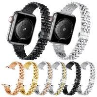 Correa de Metal delgada para Apple Watch, 38mm, 40mm, 42mm, 44mm, pulsera de acero inoxidable para mujer, iWatch SE Series 6/5/4/3/2/1