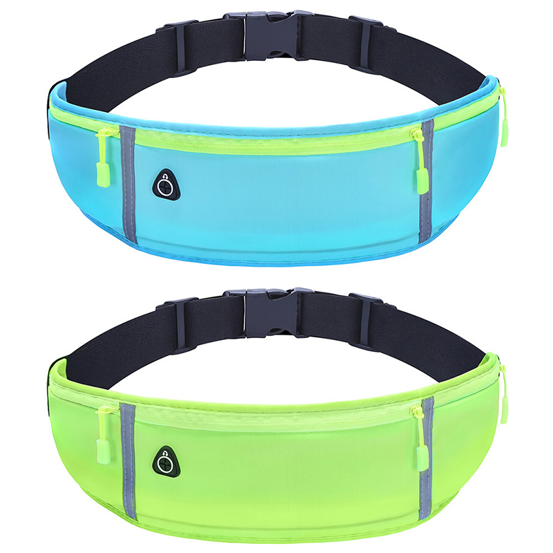 Professional Running Waist Bag Sports Belt Pouch Mobile Phone Case Unisex Gym SportsBags Night Running Belt Cycling Waist Pack