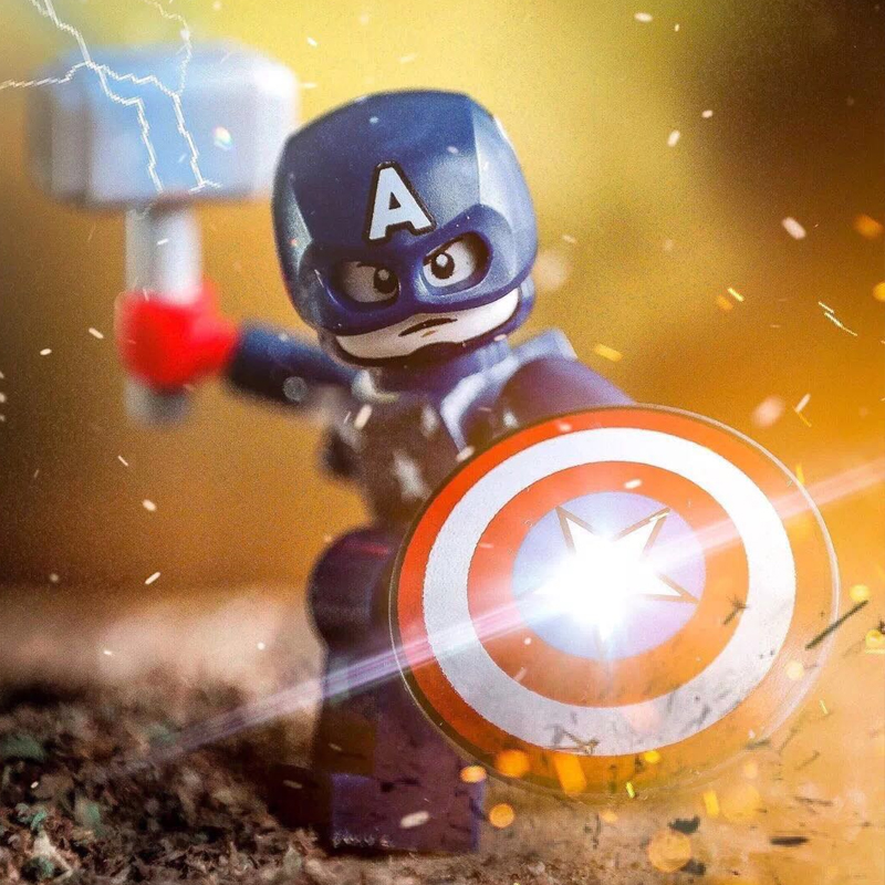 Marveling Super Hero AvengersING 4 Endgame Old Captain America Pepper Building Blocks Legoings Figures Toys For Children Gift