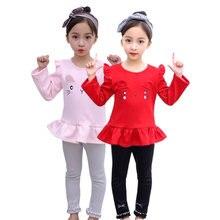 От 3 до 8 лет Одежда для девочек на весну и осень комплект из