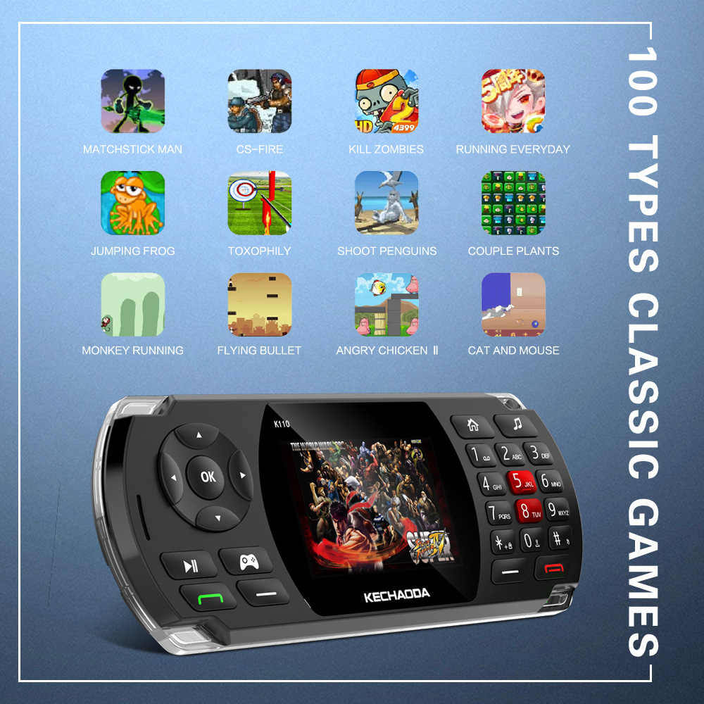 "GUOPHONE K110 2.8 ""SC6531E 32MB 2600mAh Unterstützung 32G Spiel Telefon 84 Modelle Handys Billige Telefon 2019"