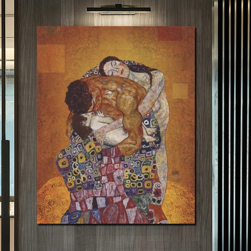 Gustav Klimt Family Painting Nordic Poster Wall Art Canvas Painting Nordic Posters And Prints Canvas Art Wall Picture Room Decor