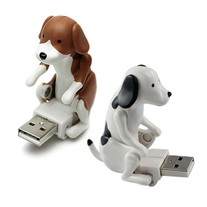 Funny Dog 1M USB Data USB Cable USB Humping Spot Dongle Puppy Toy USB Gadgets for PC/Android/Cellphones Gifts Office