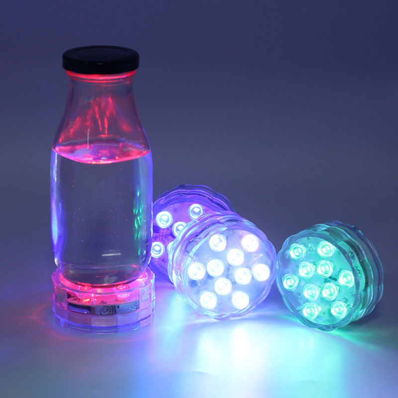 Led RGB Submersible aquarium Light remote control Waterproof Pool Lights Underwater Night Lamp Outdoor Vase Bowl Garden Decor