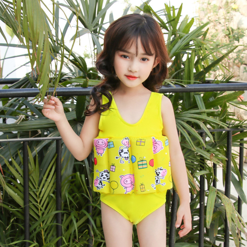 CHILDREN'S Buoyancy Swimsuit GIRL'S Girls BABY'S Bathing Suit Baby CHILDREN'S One-piece Floating Swimwear Bathing Suit