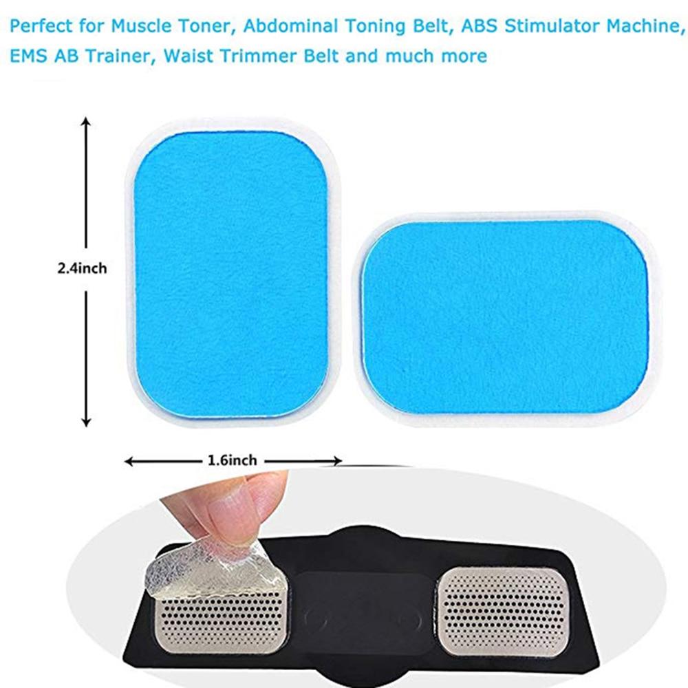 50PCS EMS ABS Stimulator Muscle Trainer Gel Pads FOR Abdominal Toning Belt Toner