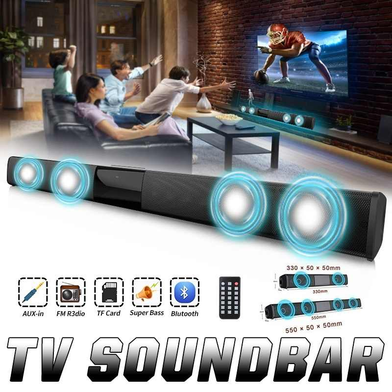 Aggiornamento di Lusso Senza Fili di Bluetooth Soundbar Altoparlante Stereo Tv Home Theater Audio Bar per 3.5 Millimetri di Uscita Tv
