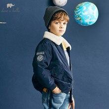 DBK10691 デイブベラ冬キッズボーイジャケット綿の服の子供の上着ファッション海軍ジッパーコート