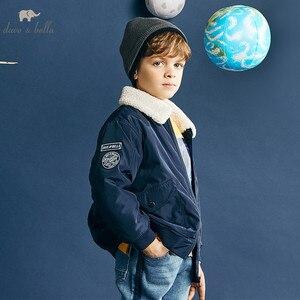 Image 1 - Dbk10691 데이브 벨라 겨울 아이 소년 재킷 면화 의류 어린이 겉옷 패션 해군 지퍼 코트